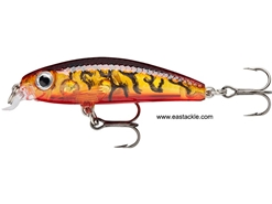 Rapala - Ultra Light Minnow ULM04 - GLASS AMBER TIGER UV - Sinking Jerk Bait | Eastackle