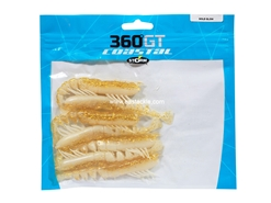 "Storm - 360GT Coastal Shrimp 3"" - GOLD GLOW - Soft Plastic Shrimp Bait"