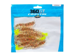 "Storm - 360GT Coastal Shrimp 4"" - CAYENNE GOLD - Soft Plastic Shrimp Bait"