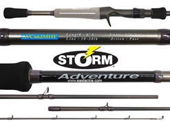 Storm - Adventure - AVC662MHF - Bait Casting Rod | Eastackle