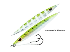 Storm - Gomoku Kensaki 220grams - UV GREEN SARDINE ZEBRA - Slow Pitch Metal Jigs | Eastackle