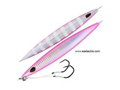 Storm - Gomoku Kensaki 280grams - SILVER PINK ZEBRA - Slow Pitch Metal Jigs | Eastackle