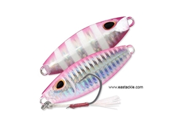 Storm - Gomoku Slow Rocker 70 Grams - SILVER PINK ZEBRA - Slow Pitch Metal Jig | Eastackle