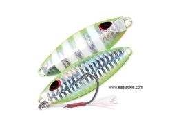 Storm - Gomoku Slow Rocker 70 Grams - UV CHARTREUSE GLOW ZEBRA - Slow Pitch Metal Jig | Eastackle