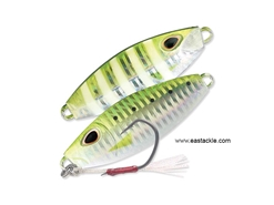 Storm - Gomoku Slow Rocker 70 Grams - UV GREEN SARDINE ZEBRA - Slow Pitch Metal Jig | Eastackle
