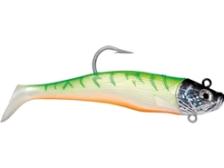Storm - Wildeye Giant Jigging Shad - WGJSD06 - UV GREEN FIRE - Soft Plastic Swim Bait | Eastackle