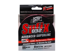 Sufix - 832 Advanced Superline 150yds - 6LB / PINK - Braided/PE Line | Eastackle