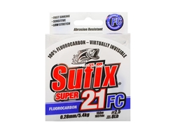 Sufix - Super 21 - Fluorocarbon Line (150 Metres) - 8lbs / CLEAR | Eastacklea