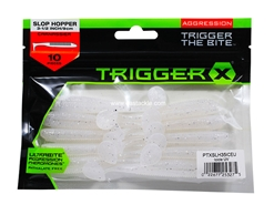 Trigger X - Slop Hopper PTXSLH35 - 3.5in - CHARTREUSE PEARL UV - Soft Plastic Swim Bait | Eastackle