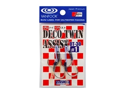 Vanfook - DECO TWIN ASSIST DT-30 - #1 - Micro Double Assist Jigging Hooks | Eastackle