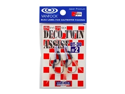 Vanfook - DECO TWIN ASSIST DT-30 - #2 - Micro Double Assist Jigging Hooks | Eastackle