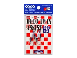 Vanfook - DECO TWIN ASSIST DT-30 - #3 - Micro Double Assist Jigging Hooks | Eastackle