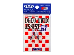 Vanfook - DECO TWIN ASSIST DT-30 - #4 - Micro Double Assist Jigging Hooks | Eastackle