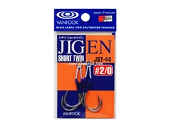 Vanfook - JIGEN SHORT TWIN JST-44 - #2/0 - Twin Assist Jig Hook | Eastackle