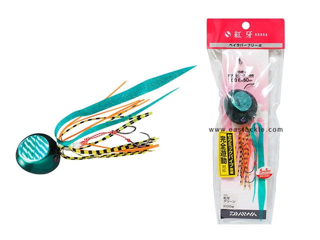 Daiwa - Kohga Bay Rubber Free Alpha 200grams - FURUKAWA GREEN - Tai-Rubber Jighead Rig | Eastackle