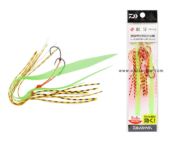 Daiwa - Kohga Rattle Magic Unit Alpha SS - ISOME PATTERN R - Tai-Rubber Skirt Rig | Eastackle