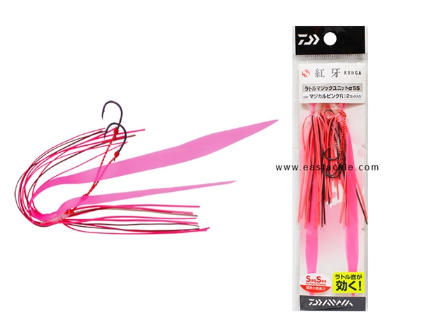 Daiwa - Kohga Rattle Magic Unit Alpha SS - MAGICAL PINK R - Tai-Rubber Skirt Rig | Eastackle