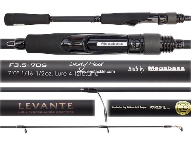 Megabass - Levante - SP F3 5-70S - SHAKEY HEAD - Spinning Rod