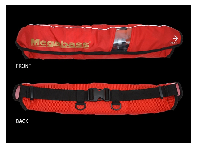 Megabass - Life Saver (Waist-Type) - RED - Floatation Device | Eastackle