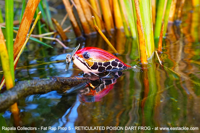 Rapala Collectors - Fat Rap Prop 5 - RETICULATED POISON DART FROG - Floating Prop Bait | In the Wild | Eastackle