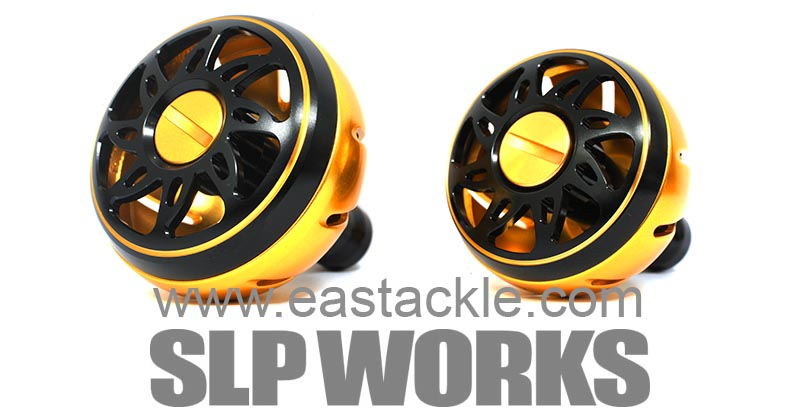 Daiwa - SLP Works - Aluminium Knobs - GOLD (Large & Medium) - Dress Up Parts | Eastackle