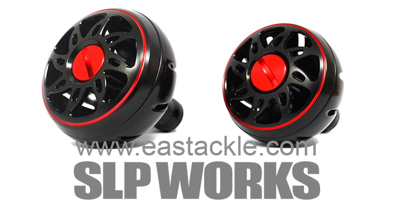 Daiwa - SLP Works - Aluminium Knobs - BLACK (Large & Medium) - Dress Up Parts | Eastackle