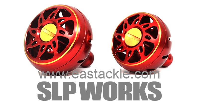 Daiwa - SLP Works - Aluminium Knobs - RED (Large & Medium) - Dress Up Parts | Eastackle