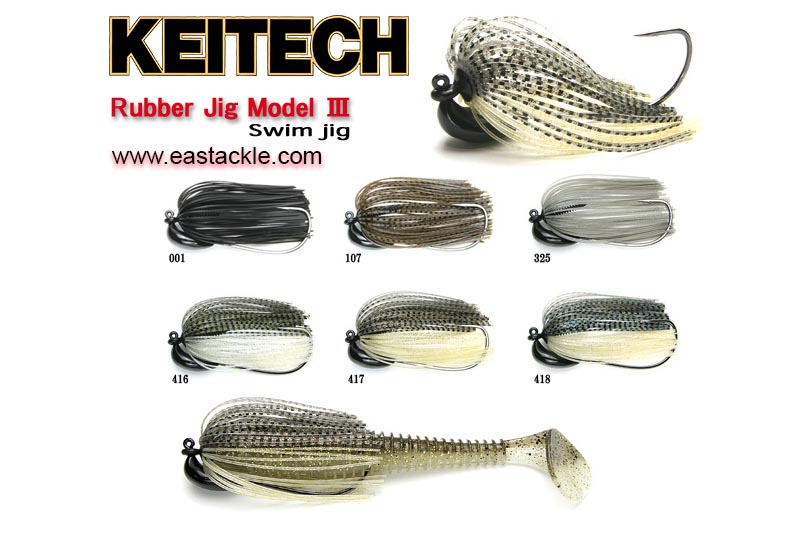 Keitech - Tungsten Rubber Jig - Model III - Skirted Jigheads | Eastackle