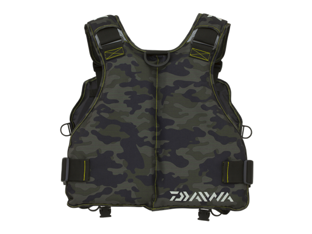Daiwa - Light Wading Game Vest - DF-6406 GREEN CAMO - Free Size | Eastackle