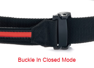How to adjust swing belt - Step 1 - 1. Push down to close the slide buckle.