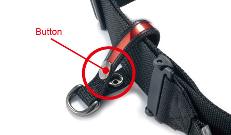 How to use - Step 2 - Remove the fastener button to the D Lug Loop.
